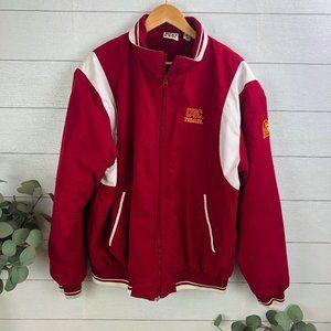 Vintage Red Oak USC Trojans Jacket Size Large